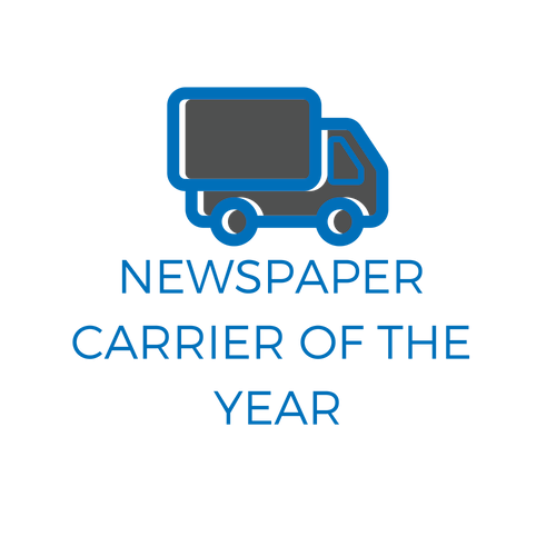 Newspaper Carrier of the Year award logo