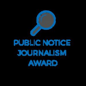 Public Notice Journalism Award Logo