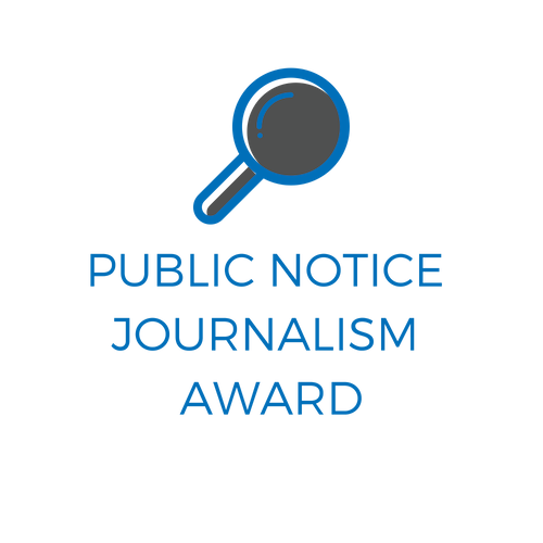 Public Notice Journalism Award Logo