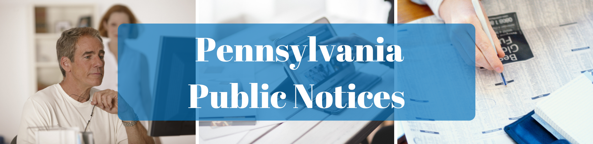 Public Notices in Pennsylvania