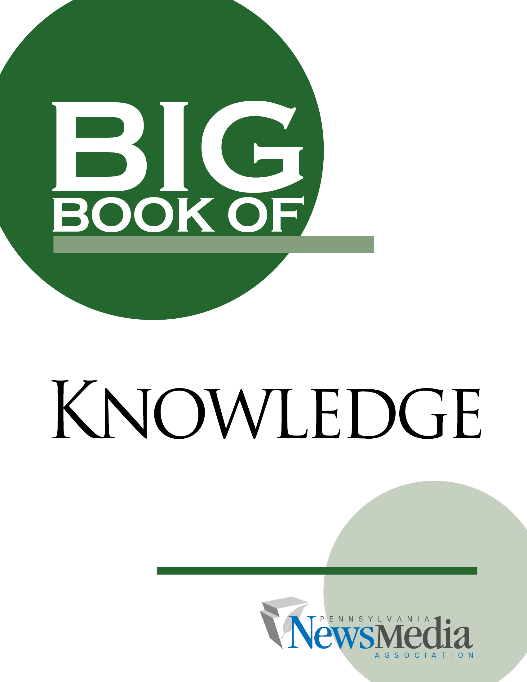 Big Book of Knowledge Cover - Helpful Guide for Newspapers in Pennsylvania