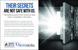 "Pennsylvania Sunshine Week 2020 4x5 Ad ""Safe Door"""