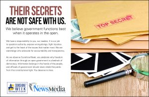 "Pennsylvania Sunshine Week 4x5 Ad ""Top Secret"""