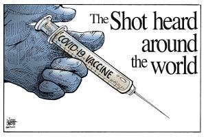 Bishtoons: The Shot heard around the world, Covid-19 Vaccine